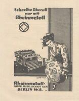 Y6162 Macchina da scrivere RHEINMETALL - Pubblicità d'epoca - 1925 Old advert