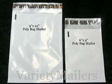 "48 Poly Bag Shipping Envelope Combo 9""x 12"" & 6""x 9"" / 2.5 Mil Postal Mailers"