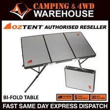 Oztent Bi Fold Table - Aluminium Surface Portable Camping Camp Outdoor Portable