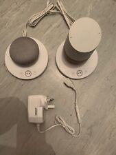 2x assorted Google Home inc Smart Assistant - White Slate