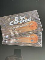 Lot(2) 1997-98 Topps Chrome Basketball Sealed Hobby Box : Tim Duncan RC