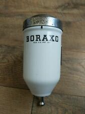 RARE!! EARLY PRODUCTION Boraxo White Enamel Powdered Soap Dispenser w/Chrome Lid
