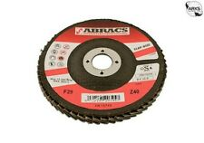 ABRACS Zirconium Flap Discs - P40 - 115mm - Pack Of 5 32082