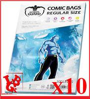 Pochettes Protection REGULAR Size comics VO x 10 Marvel Ultimate Guard # NEUF #