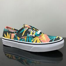 VANS AUTHENTIC TROPICAL LEAVES BLACK TRAINERS