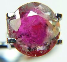 Top quality watermelon tourmaline,slice,2ct Brazil around 10mm, faceted 608