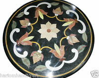 2'x2' Marble Side Coffee Table Top Mosaic Inlay Floral Marquetry Arts Decor H921