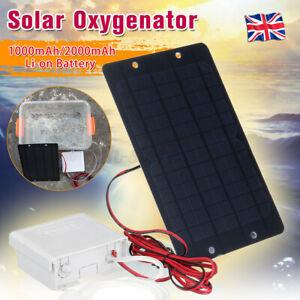 Solar Powered Oxygenator Pond Water Oxygen Air Pump Aerator Pond Fish Tank UK