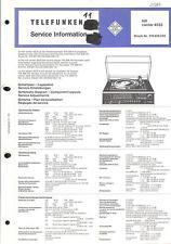 Telefunken Original Service Manual for HiFi Center 4525