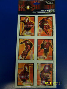 RARE Iron Man Movie Superhero Avengers Birthday Party Favor Scrapbook Stickers *