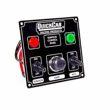 "Quickcar Racing Products 50-822 Dash Mount Switch Panel 4-5/8 x 4-3/8"" Aluminum"