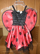 Darling Ladybug Costume, Fits up to 24 Mo. Black, Red Dress w/ Wings, Halloween!