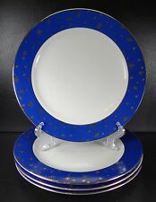 Sakura Galaxy Blue set of 4 Dinner Plates Multiple Sets Christmas Stars