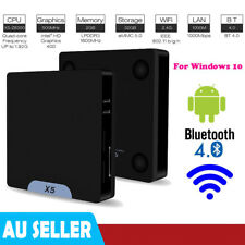 X5 Mini PC Computer for Win10 Android & OS Quad-core 64bit WiFi Bt4.0 2 32g AU