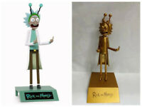 6.2''Rick and Morty Figure Peace Among Worlds Statue PVC  Figure Toys Gold Model