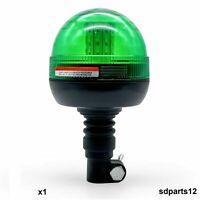 Girofaro Lampeggiante Rotante 40 LED Emergenza Verde Segnale Luce 12-24V E9 IP56