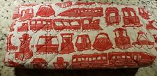 Changing pad trains red crate and barrel quilted thick land of nod