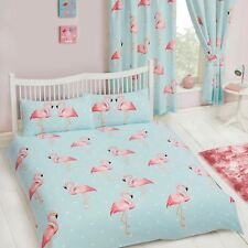 FIFI FLAMINGO DOUBLE DUVET COVER SET POLKA DOT BEDDING NEW