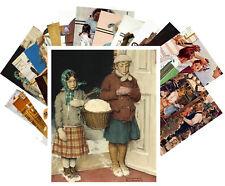 24 Postkarten Set * Norman Rockwell Retro Illustration Pretty Girls CC1027