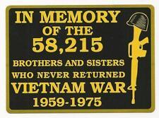 VIETNAM IN MEMORY OF STICKER