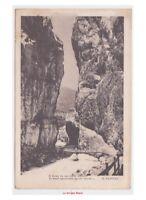 1916 Versos por Pascoli en Tarjeta Postal Antigua Paisaje Montaña Puente Río