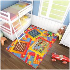 Tappeto gioco 133x170 camera bimbi dama scacchi lego carte moquette antiscivolo