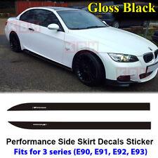 Fits BMW E90 E91 E92 E93 3 Series M Performance Skirt Decal Stickers GLOSS BLACK