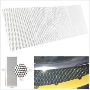 "100×33cm 40""x13"" Silver Aluminium Racing Car Vehicle Racing Grille Mesh Vent Net"