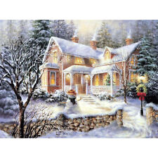 Full Drill Snow Hut House 5D DIY Diamond Embroidery Cross Stitch Painting Decor