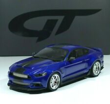 """FORD Mustang SHELBY GT-350 'WIDEBODY"""" 2017 blue / black 1:18 GT238 GT Spirit"""