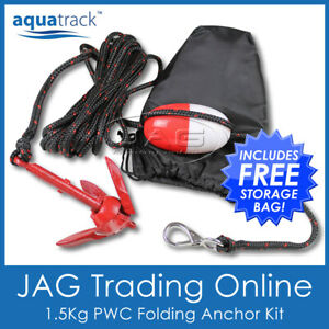1.5KG PWC FOLDING ANCHOR KIT- GRAPNEL/ROPE/FLOAT/HOOK - Kayak/Boat/Jet Ski/Canoe
