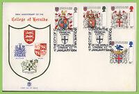 G.B. 1984 Heraldry set Stuart u/a First Day Cover, City of London, EC