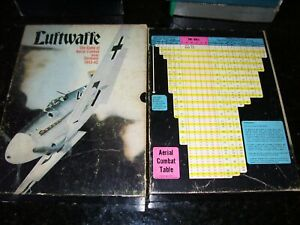 LUFTWAFFE-The Game of Aerial Combat- VINTAGE 1971-Avalon Hill- Parts only
