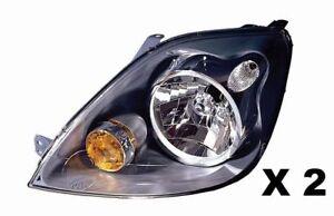 KIT coppia fari proiettori fanali anteriori  Sx E DX  FORD FIESTA V 2006-2008 H4