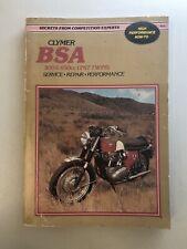 Clymer BSA 500 650cc Unit Twins Service Repair Handbook