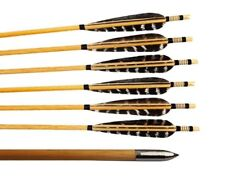 """6pcs 31"""" Wooden Arrows With Turkey Feather Archery Recurve Bow Hunt Handmade"""