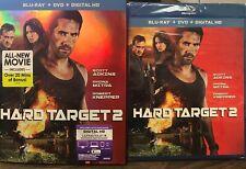 Hard Target 2 (Blu-ray/DVD, 2016, 2-Disc Set, Digital) NEW SEALED W SLIPCOVER
