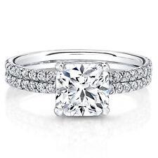 950 Platinum 0.87 Ct Cushion Cut Real Diamond Engagement Ring Size L M N R S T
