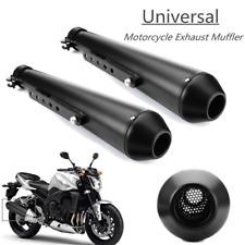 "2x Universal 17.5"" Motorrad Cafe Racer Auspuff Rohr Endtopf Schalldämpfer Metall"