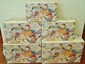 """NEW Bob's Boxes (A Snow Man Named """"Just Bob"""") 5 Piece Christmas Nesting Boxes"""