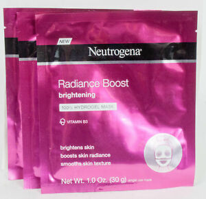 3 Neutrogena Radiance Boost Brightening or Deep Clean Purifying Mask Pick One