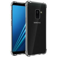 Hülle für Samsung Galaxy A8 Schutzhülle Anti Shock Handy Case Transparent Cover