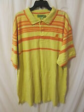 MENS MEEZAN POLO STYLE SHIRT YELLOW ORANGE SIZE 5XL FREE SHIPPING