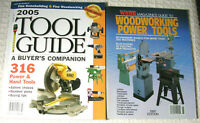 Fine WoodWorking 2005 Tool Guide and Wood Magazines Guide to WW Power Tools 1990