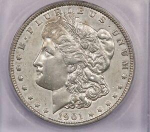 1901-P 1901 Morgan Silver Dollar S$1 ICG AU55 Details