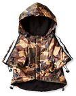 NEW (Choose Size) Brown Camo Reflective Dog Raincoat Slicker Coat Clothing Pet