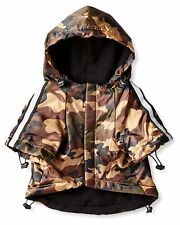 NEW (Choose Size) Brown Camo Reflective Dog Raincoat Slicker Coat Clothing Pet
