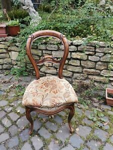 Salonsessel, gepolsteter Stuhl antik, über 100 Jahre alt