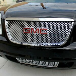 For 2007-2013 GMC Yukon / Yukon XL 1500 Front Grill Grille Emblem Badge Red