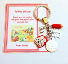 Thank you for helping me Grow Key Ring End of Term Teacher Gift on Gift card